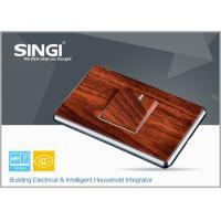 Single gang wood modern Wall Switch Socket 118 * 86mm 16amp 240v