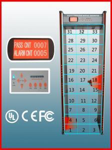 China Metal Detector Walk Through Gate , 33 Zones Type Walk In Metal Detector on sale