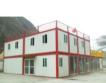 Modern Flat Roof Prefab Houses Container Modified Prefabricated