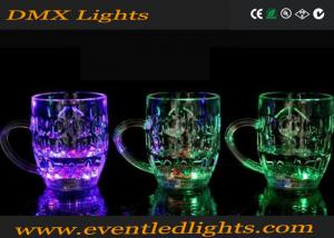 China Purple / Green Beer Actived Led Flashing Cup Plastic For Party on sale