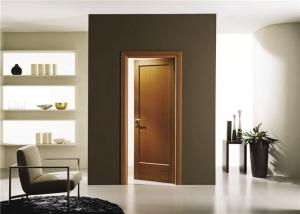 China House Model Open Inside Swing Solid Wood Doors Customized Color With Knobs / Locks on sale