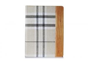 China Elegant Eco-friendly Plaid iPad Air Leather Folio Case Apple Tablet PC Cover on sale
