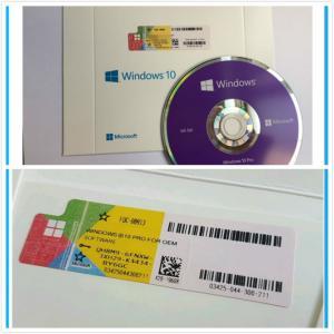 China PC / Computer Microsoft Windows 10 Pro 32/ 64 Bit OEM Key Dvd Box 100% Genuine on sale