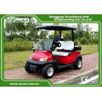 China Metallic Red Electric Golf Car 2 Person Golf Club Car 48V Battery Powered on sale