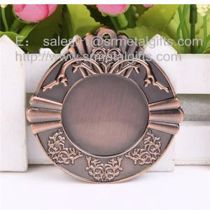 China Metal blank sports medals, custom made antique bronze blank metal medallions, on sale