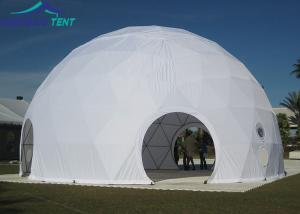 China 20m White Large Geodesic Dome Tents Aluminium Frame Geo Dome for Outdoor Event on sale
