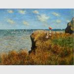 Claude Monet Oil Reproduction, Cliff Walk At Pourville Oil on Canvas 50 X 70 Cm