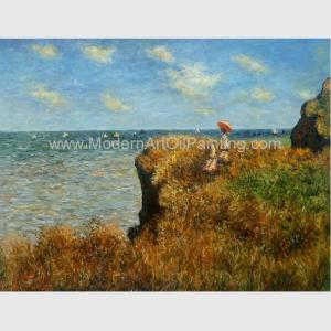 China Claude Monet Oil Reproduction, Cliff Walk At Pourville Oil on Canvas 50 X 70 Cm on sale