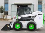 Steel White Color Mini Skid Steer , 1100 Skid Steer Side Loader Fork Truck