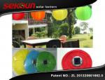 Linterna solar de nylon inflable decorativa del jardín del festival con la luz de 10 LED