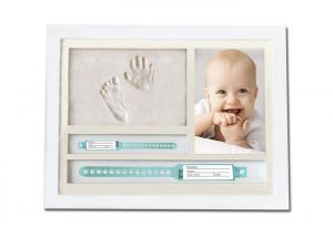 China Wooden Baby Clay Frame Neonate Impression Hands and Feet / Bracelet Holder on sale