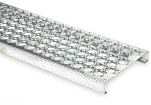 China Round Galvanized Steel Bar Gratings , metal grates for driveways one-piece plank on sale