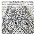 150CM Cotton Nylon Polyester  Lace Fabric Rhombic Floral Black Cord