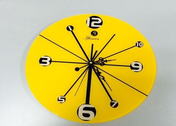 Dinning Room Yellow Reverse Wall Clock Decorative Home Design ...