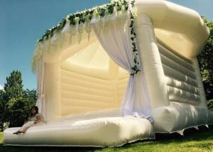 China White Inflatable Wedding Bouncer House Romantic Ceremony Inflatable Jumping Castle on sale