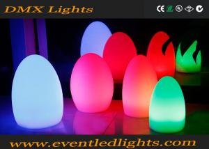China Illuminated Egg Shape Led Restaurant Table Lamps For Catering on sale