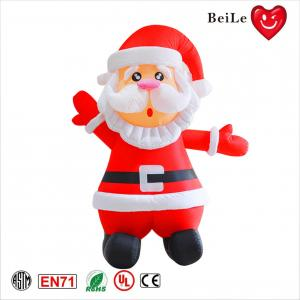 China 3ML Festival hot sale red inflatable Santa Claus 3d model on sale