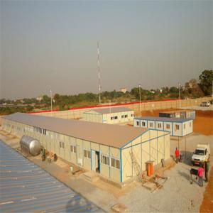 China light steel eps sandwich panel prefabricated house fast assemble for workers camp on sale
