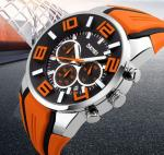 SKMEI Brand Six pin Stopwatch Chronograph Sports Watches Men Waterproof Silicone 9128