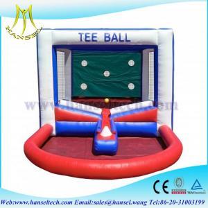 China Hansel Popular inflatable Tee ball games for kids inflatable kids ball games on sale
