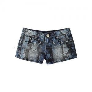 China Fashion custom printing jeans sublimation women mini denim shorts on sale