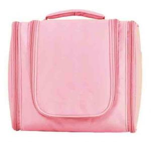 China Waterproof Hanging Toiletry Travel Bag Pink Three Space 24×10.5×20 cm on sale