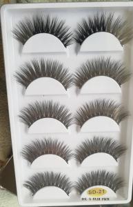 China Beauty makeup false eyelashes synthetic 5 pairs false eyelashes wispies on sale