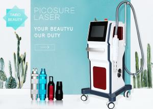 China 4 Wavelegth Picosure Nd Yag Laser Machine For Tattoo Removal / Freckle Pigmentation Removal on sale