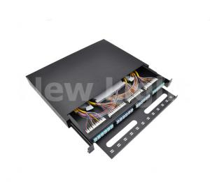 China 96 Core LC  Fiber Optical Patch Panel FTTH Distribution Box Stainless Steel on sale