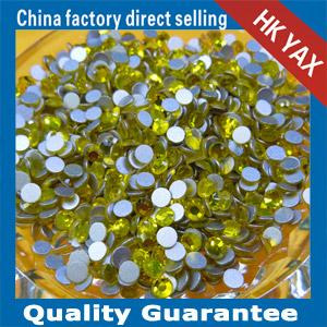 China Beautiful round nail crystal, flat back nail crystal, non hotfix crystal for nail art on sale