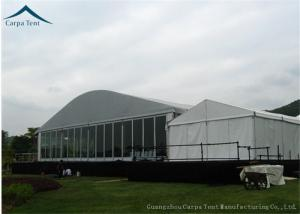 China Dome Shape 15m * 30m Outdoor Exhibition Tents With Glass Wall And Glass Door on sale
