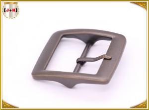 Quality Plain Design Brass Plated Metal Belt Buckle , Central Bar Buckle with Pin for sale