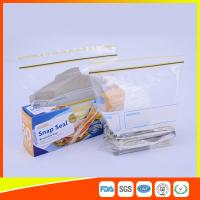 Airtight Transparent Ziplock Snack Bags For Food Packing Customized Size