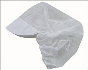 China PP Non Woven Medical Disposables , White Peaked Disposable Snood Caps on sale