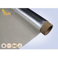 Silver Heat Reflective Aluminum Fiberglass Cloth For Flexible Hose Fabricating Purpose