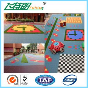 China Sports Recycled Rubberized Floor Tiles Polypropylene Interlock Flooring on sale