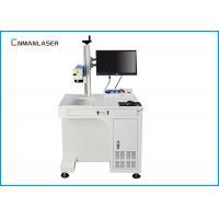 Ceramic Air Cooling 20w Fiber Laser Marker Automatic Focus With Conveyor Belt