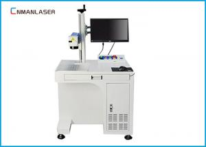 China Ceramic Air Cooling 20w Fiber Laser Marker Automatic Focus With Conveyor Belt on sale