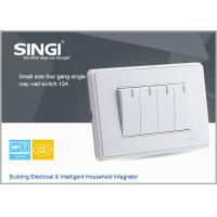GNW58C Classic design white,champagne plate 4 gang single way wall switches and socket