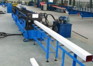 China 0.5 - 0.8mm Color Steel Square Tube Making Machine Rainwater Pipes Support on sale