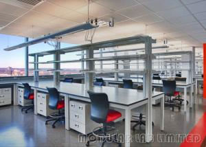 China Movable Lab Tables Modular Laboratory Furniture Ergonomic L Shape Wall Bench on sale