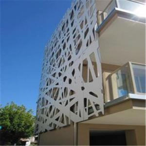 China Color Painted Powder Coated Aluminum Perforated Wall Panels for cladding or partition on sale