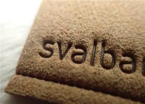 China Micro Fibre Custom Clothing Patches With Hot Melt Glue / Sewing Line Suede Patches on sale