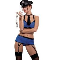 Bad Cop Sheer Police Officer Costume Adult Costumes for Carnival Christmas Halloween