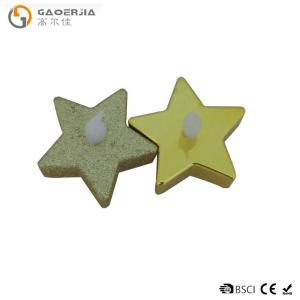 China Metalic Battery Operated Led Tea Light Candle Christmas Star Shaped on sale