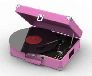 China 2015 NEW Suitcase turntable record player with earphone jack on sale