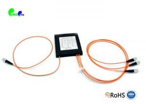 China High Return Loss 1x3 Multimode Fiber Coupler Excellent Mechanical Stability With ABS Box on sale