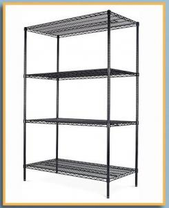 China Light Duty 4 Tiers Chrome Metal Wire Shelving  Heavy duty NSF 4 tier chrome wire shelf  NSF Certified Shelving, Storage, on sale