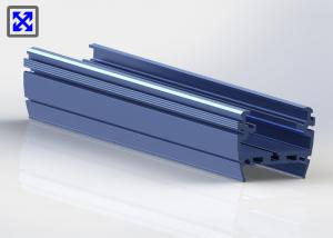 China Blue Painted 6063 - T5 Aluminum LED Strip Profiles Channel For LED Light on sale
