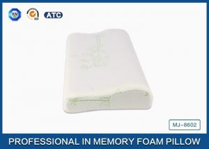 China Cooling Gel Slow Rebound Memory Foam Bamboo Pillow / Breathable Contour Gel Pillow on sale